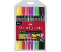 Фломастеры Faber-Castell 151109 FIBRE-TIP ДВУХСТОРОННИЕ Neon 10 цветов
