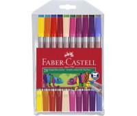 Фломастеры Faber-Castell 20 цветов двухсторонние тонкие/толстые 151119
