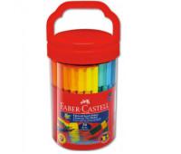 Фломастеры Faber-Castell 50 цв connector в пластиковой банке 155550