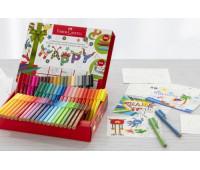 Фломастеры Faber-Castell Connector 60 цветов + 10 поздравительных открыток 155559