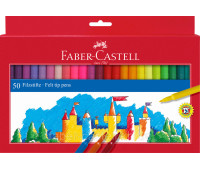 Фломастеры Faber-Castell 554250 50 цветов FELT TIP в картоне