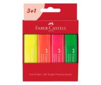 Набор маркеров текстовых Faber-Castell Textliner 1546 Superfluor 4 цвета в картонной упаковке, 254604