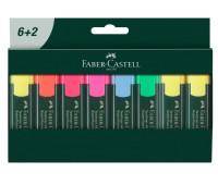 Набор маркеров Faber-Castell Textliner REFILL 1548 8 штук (6 + 2 желтых), 254863