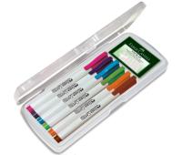 Набор маркеров для маркерный досок faber 6 цветов + клей Tack it многоразовый 156070
