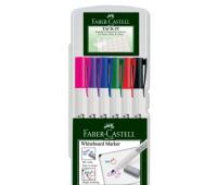 Набор маркеров для маркерный досок faber 6 цветов + клей Tack it многоразовый 156077