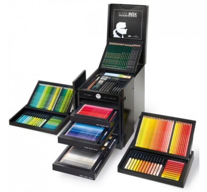 ПОДАРОЧНЫЙ НАБОР 110051 Faber-Castell 482 ШТ. LAGERFELD ART & GRAPHIC KARLBOX - Limited Edition