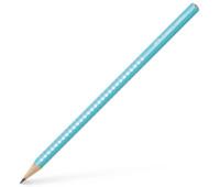 Карандаш чернографитный Faber-Castell Grip Sparkle Pearl бирюзовый корпус, 118205