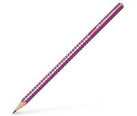 Карандаш чернографитный Faber-Castell Grip Sparkle Pearl корпус бордо, 118215