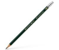 Карандаш чернографитный Faber-Castell CASTELL 9000 HB с ластиком, 119200