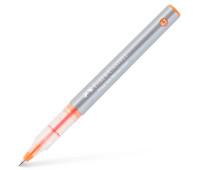 Ручка-роллер Faber-Castell Free Ink цвет чернил оранжевый, 0,7 мм, одноразовая, 348115