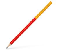 Карандаш чернографитный Faber-Castell Grip 2001 TWO TONE В, корпус красный + желтый, 517022