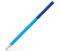 Карандаш чернографитный Faber-Castell Grip 2001 TWO TONE В, корпус голубой + синий, 517052