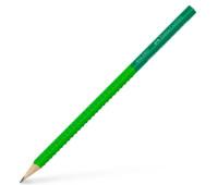 Карандаш чернографитный Faber-Castell Grip 2001 TWO TONE В, корпус салатовый + зеленый, 517060
