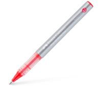 Ручка-роллер Faber-Castell Free Ink цвет чернил красный, 0,7 мм, одноразовая, 348121