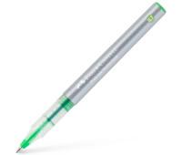 Ручка-роллер Faber-Castell Free Ink цвет чернил светло-зеленый, 0,7 мм, одноразовая, 348166