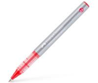 Ручка-роллер Faber-Castell Free Ink цвет чернил красный, 0,5 мм, одноразовая, 348503