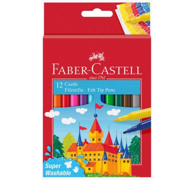 """Фломастеры faber-castell felt tip """"замок"""" в картонной коробке 12 цветов, 554201"""