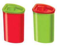 Точилка Faber-Castell 125 JEP Jumbo с контейнером для утолщенных карандашей, цвет красно/ зеленая, 482530