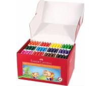 """Мелки восковые Faber-Castell """"Слоник"""" в картонной коробке 384 штуки (12 цветов по 32 штуки), 120047"""