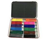 Фломастеры Faber-Castell Felt Tip в металлическом чемоданчике 144 штуки (12 цветов по 12 штук), 201691