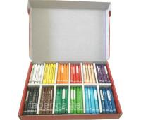 Мелки восковые трехгранные Faber-Castell в картонной коробке 144 штуки (12 цветов по 12 штук), 201694