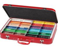 Мелки восковые Faber-Castell в металлическом чемоданчике 300 штук (12 цветов по 25 штук), 201695