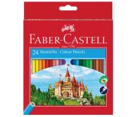 """Карандаши цветные Faber-Castell 24 цвета """"Замок"""" в картонной коробке 111224"""