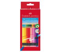 Карандаши цветные Faber-Castell Classic Colours с ластиком 24 цвета, 116625
