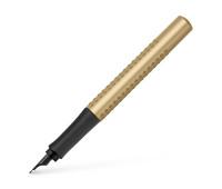 Ручка перьевая Faber-Castell GRIP 2011 Gold Edition корпус золотой металлик, перо F, 140932
