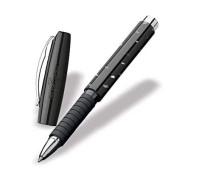 Ручка роллер Faber-Castell Basic Mother of Pearl, корпус черный пластик с перламутровыми вкраплениями, 148861