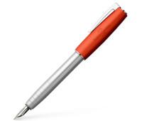 Перьевая ручка Faber-Castell LOOM Metallic Orange , корпус серебряный с оранжевым, перо М, 149220