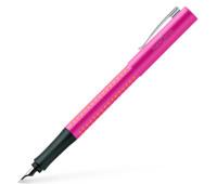 Набор ручка перьевая Faber-Castell GRIP 2010 корпус розовый перо М + корректор + картриджи, 201713