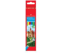 """Карандаши цветные Faber-Castell 6 цветов """"Замок"""" в картонной коробке ,120106"""