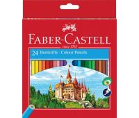 """Карандаши цветные Faber-Castell 24 цвета """"Замок"""",120124"""