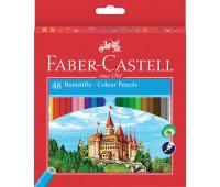 """Карандаши цветные Faber-Castell 48 цветов """"Замок"""" в картонной коробке , 120148"""