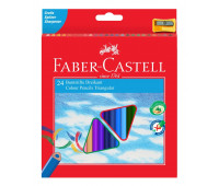 Карандаши цветные Faber-Castell 24 цвета трехгранные + точилка, 120524