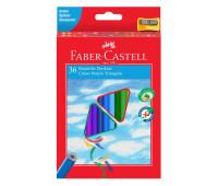 Карандаши цветные Faber-Castell 36 цветов трехгранные + точилка, 120536