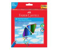 Карандаши цветные Faber-Castell 48 цветов трехгранные + точилка, 120548