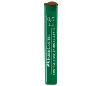 Грифель для механического карандаша Faber-Castell Polymer 2В (0,5 мм), 12 штук в пенале, 521502