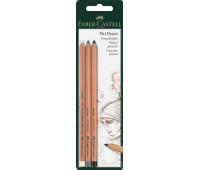 Набор пастельных карандашей Faber-Castell PITT PASTEL 3 шт. в блистере, 112795