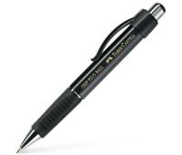 Ручка шариковая Faber-Castell Grip Plus Black Metallic, автомат. с каучуковым гриппом, корпус черный, 140733