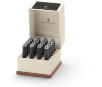 Картриджи для перьевых ручек Graf von Faber-Castell 20 ink cartridges Carbon Black, 20 шт. цвет черный, 141130