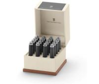 Картриджи для перьевых ручек Graf von Faber-Castell 20 ink cartridges Stone Grey, 20 шт. цвет серый, 141133