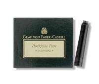 Картриджи для перьевых ручек Graf von Faber-Castell 6 ink cartridges Black, 6 шт. цвет черный, 148706