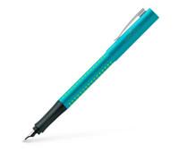 Ручка перьевая Faber-Castell GRIP 2010 M Turquoise, корпус бирюзовый перо М + картриджи, 201739