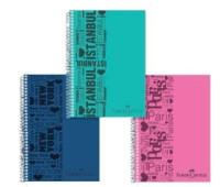 Блокнот / тетрадь в клеточку Faber-Castell Urban формат A4 на спирали, 80 листов, 400114
