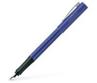 Ручка перьевая Faber-Castell GRIP 2011 корпус синий металлик, перо F, 140907