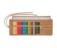 Набор цветных карандашей Faber Castell POLYCHROMOS 30 + аксессуары пенал-рулон 110030