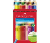 Акварельные цветные карандаши Faber-Castell Grip 36 цветов 112442