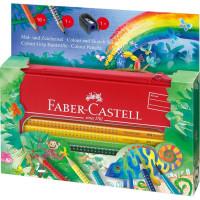 Акварельные карандаши Faber-Castell Grip 16 цветов в метал. Коробке - 112452